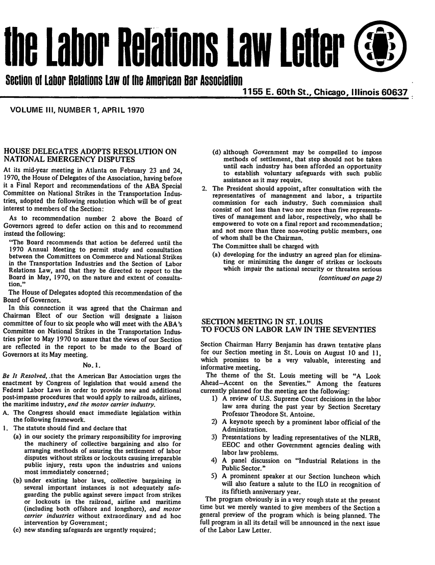 handle is hein.journals/laboemplo3 and id is 1 raw text is: 