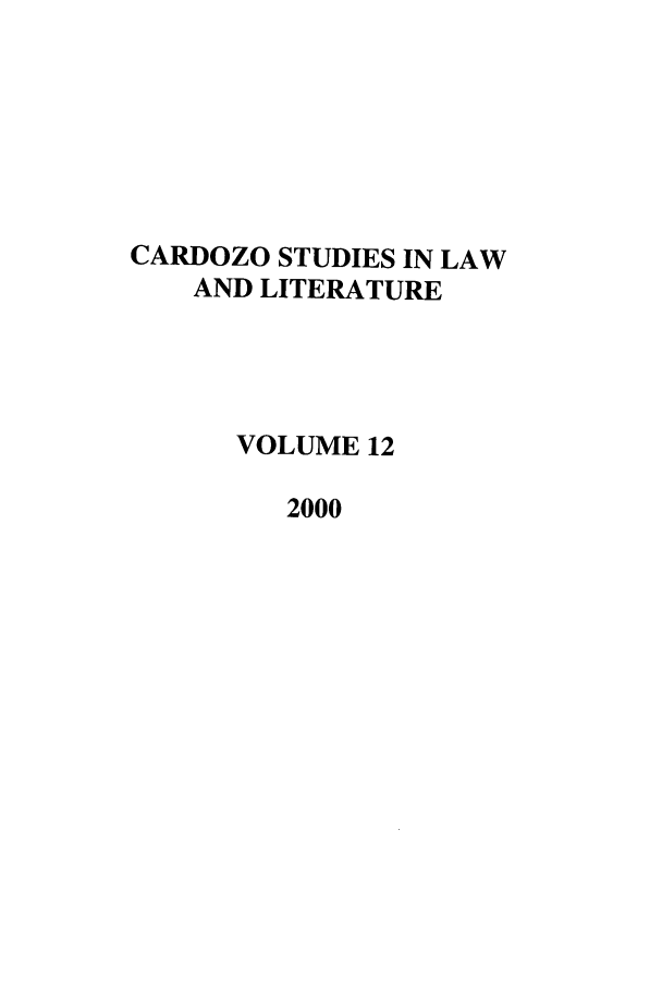 handle is hein.journals/lal12 and id is 1 raw text is: CARDOZO STUDIES IN LAW