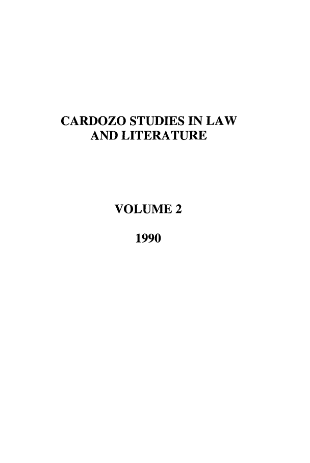 handle is hein.journals/lal2 and id is 1 raw text is: CARDOZO STUDIES IN LAW