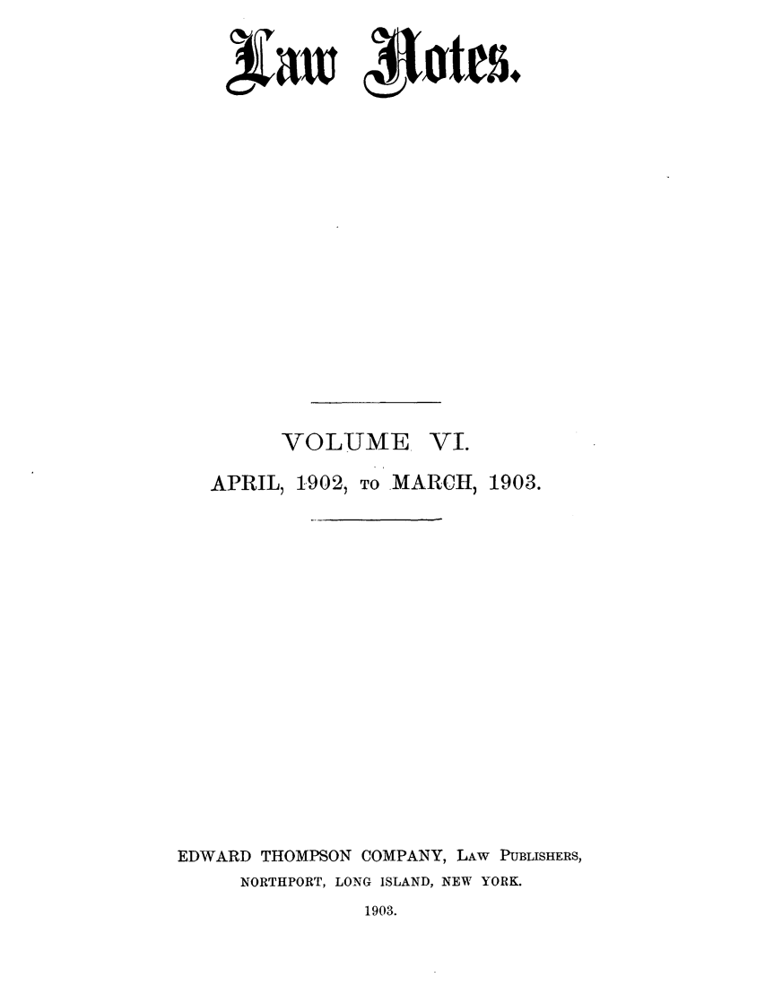 handle is hein.journals/lawnotes6 and id is 1 raw text is: saw 4Ietes+