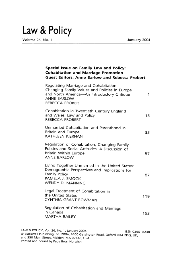 handle is hein.journals/lawpol26 and id is 1 raw text is: Law & Policy