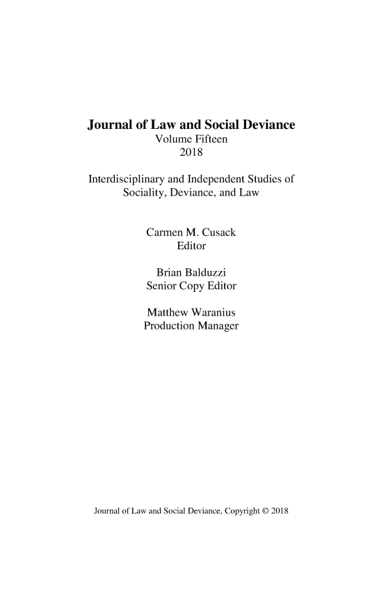 handle is hein.journals/lawsodi15 and id is 1 raw text is: 