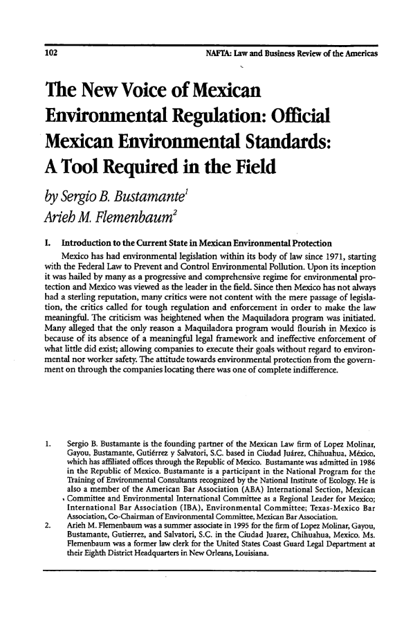 handle is hein.journals/lbramrca2 and id is 244 raw text is: 102                                    NAFTA: Law and Business Review of the Americas