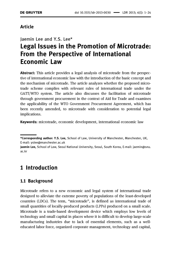 handle is hein.journals/ldevr6 and id is 1 raw text is: 
