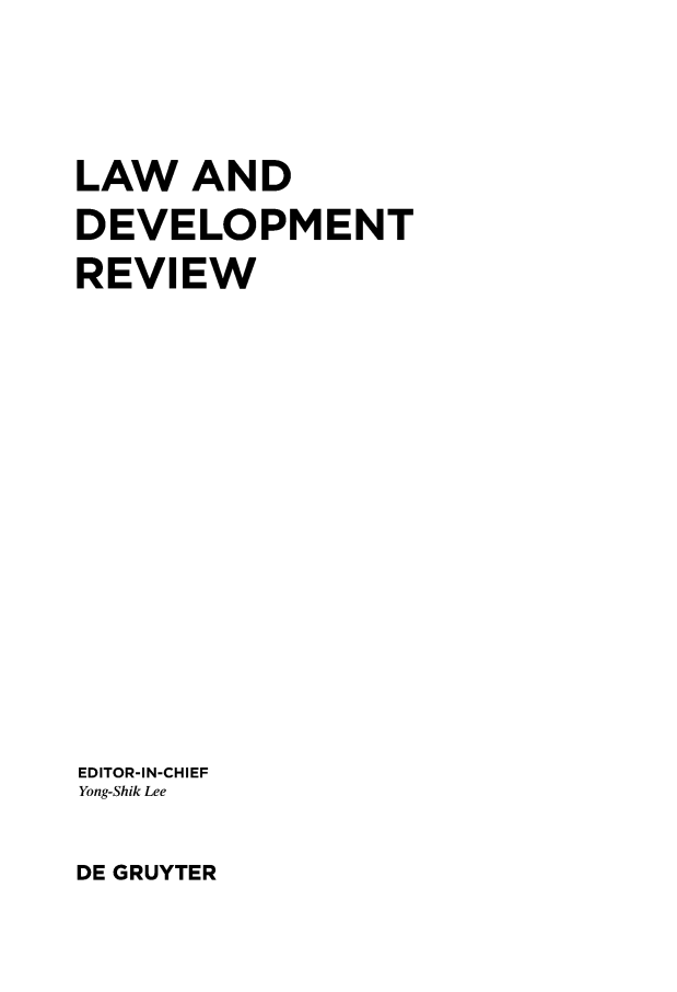 handle is hein.journals/ldevr8 and id is 1 raw text is: 