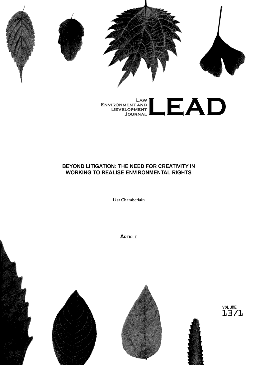 handle is hein.journals/leadjo13 and id is 1 raw text is: I