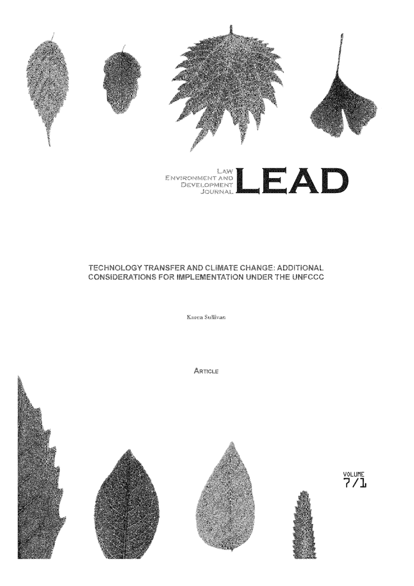 handle is hein.journals/leadjo7 and id is 1 raw text is: )LEAD