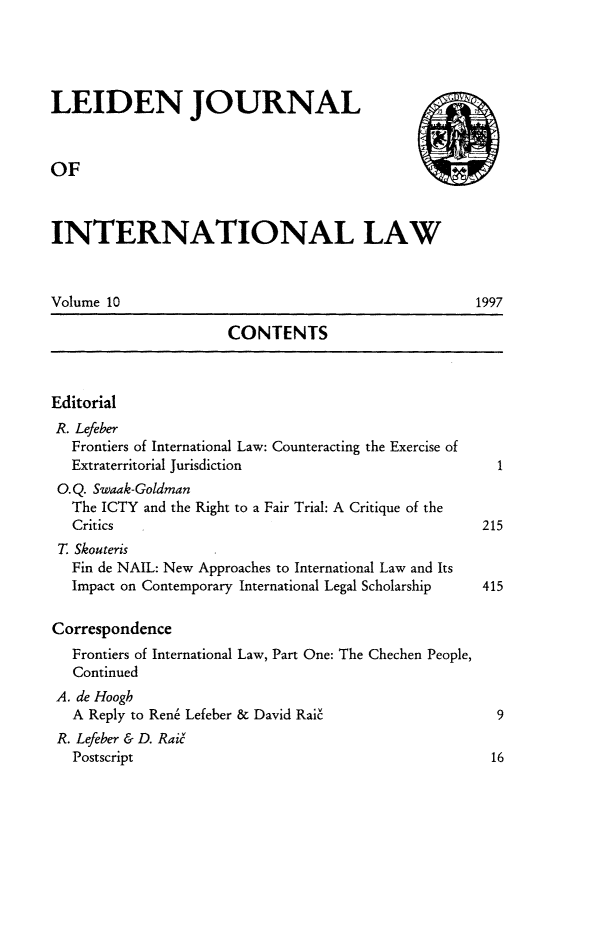 handle is hein.journals/lejint10 and id is 1 raw text is: 