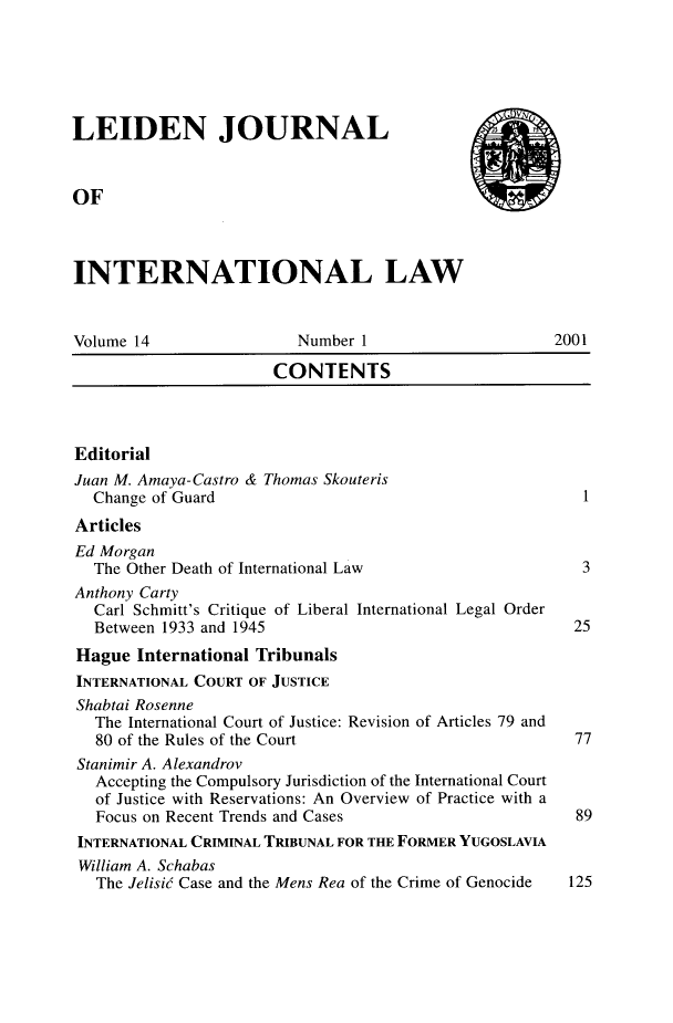 handle is hein.journals/lejint14 and id is 1 raw text is: 