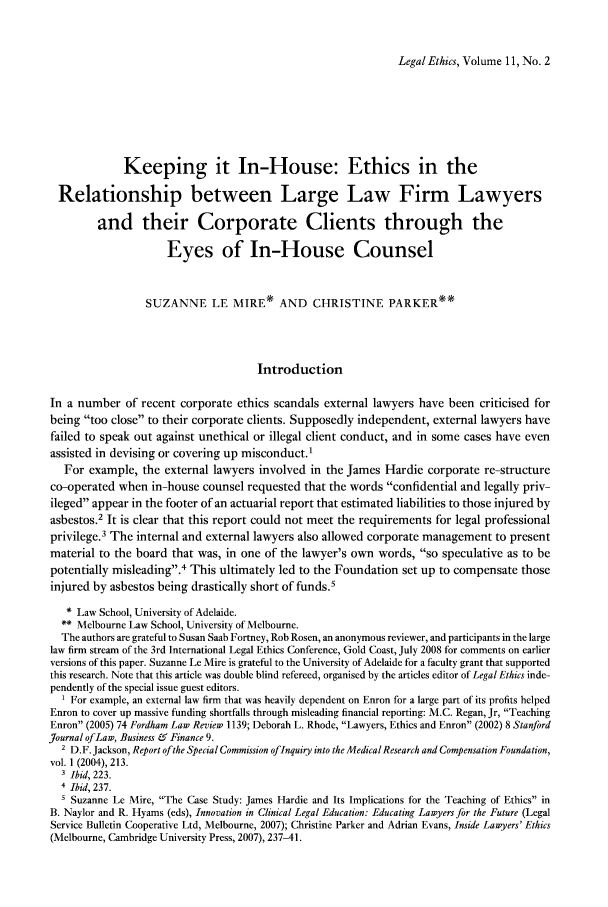 handle is hein.journals/lethics11 and id is 201 raw text is: Legal Ethics, Volume 11, No. 2