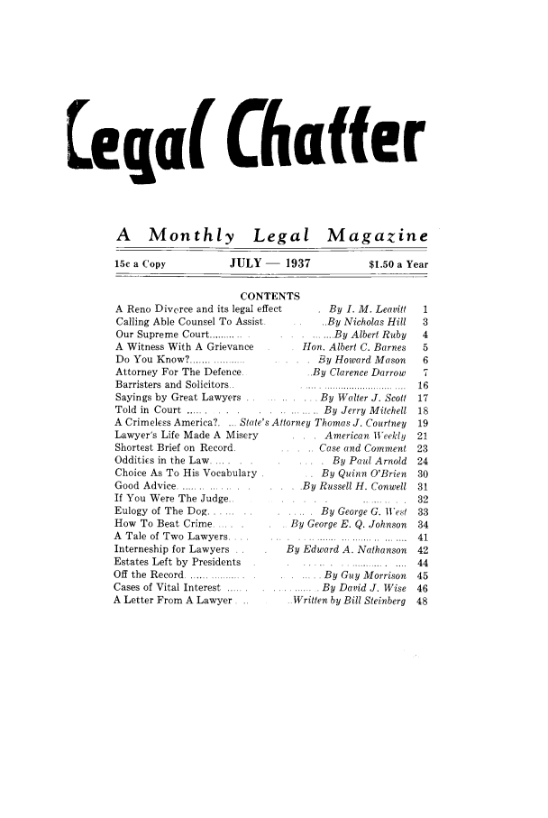 handle is hein.journals/lgcht1 and id is 1 raw text is: eq a( Chaffer