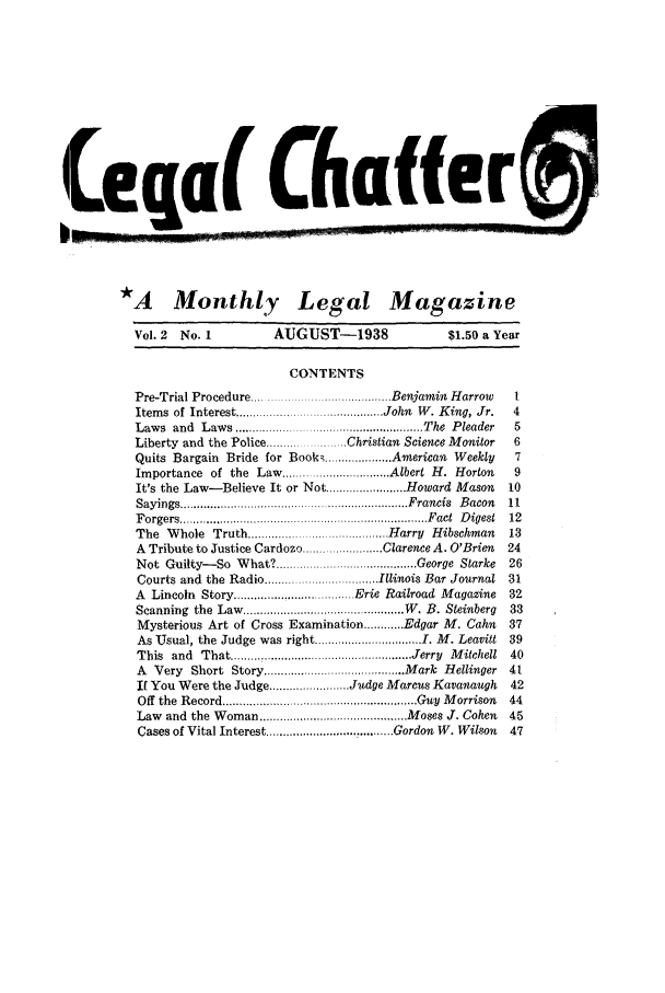 handle is hein.journals/lgcht2 and id is 1 raw text is: Leqa Chafe