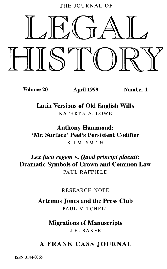 handle is hein.journals/lglhis20 and id is 1 raw text is: THE JOURNAL OF