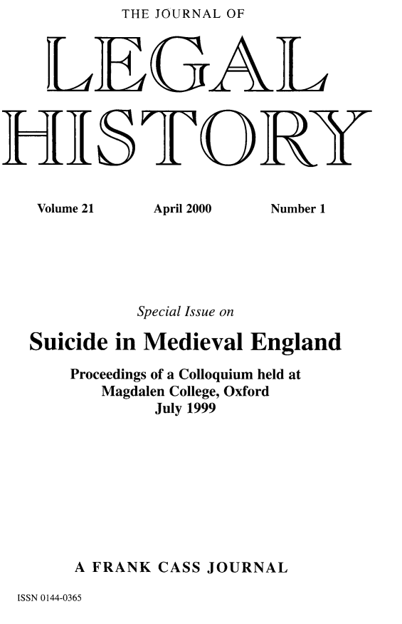 handle is hein.journals/lglhis21 and id is 1 raw text is:           THE JOURNAL OF