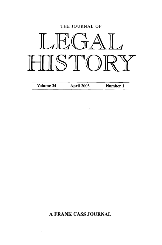 handle is hein.journals/lglhis24 and id is 1 raw text is: 