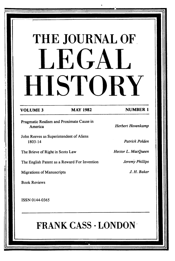 handle is hein.journals/lglhis3 and id is 1 raw text is: 