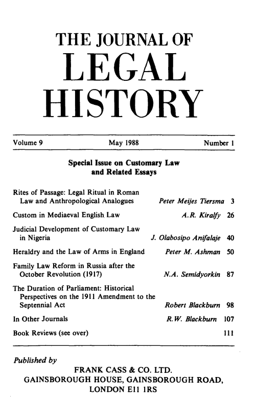 handle is hein.journals/lglhis9 and id is 1 raw text is: 
