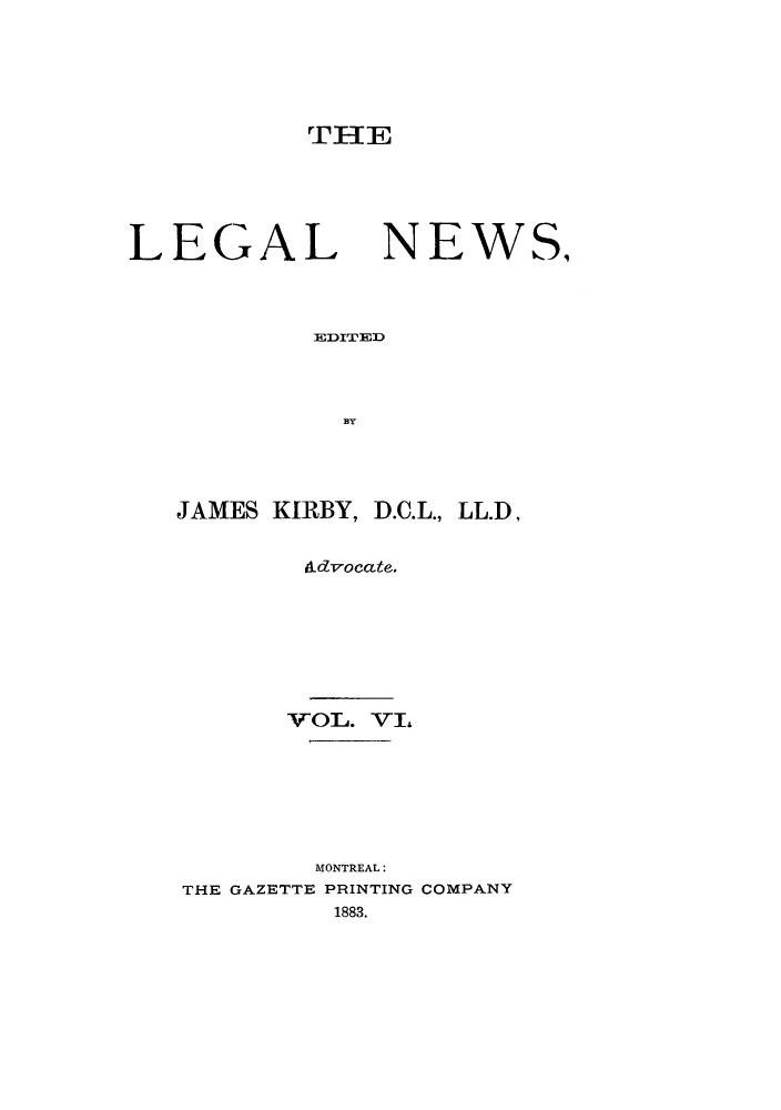 handle is hein.journals/lglnws6 and id is 1 raw text is: THE