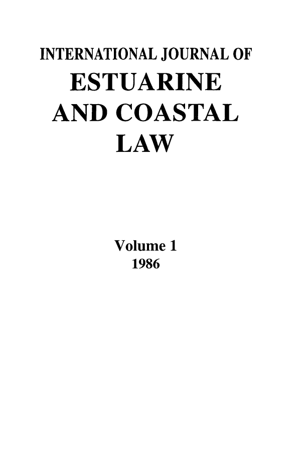 handle is hein.journals/ljmc1 and id is 1 raw text is: INTERNATIONAL JOURNAL OF