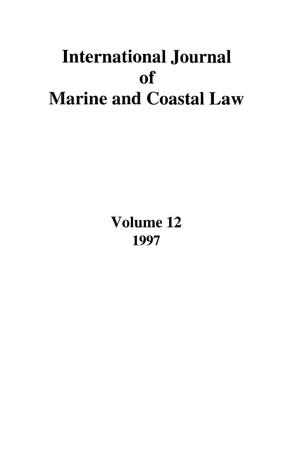 handle is hein.journals/ljmc12 and id is 1 raw text is: International Journal