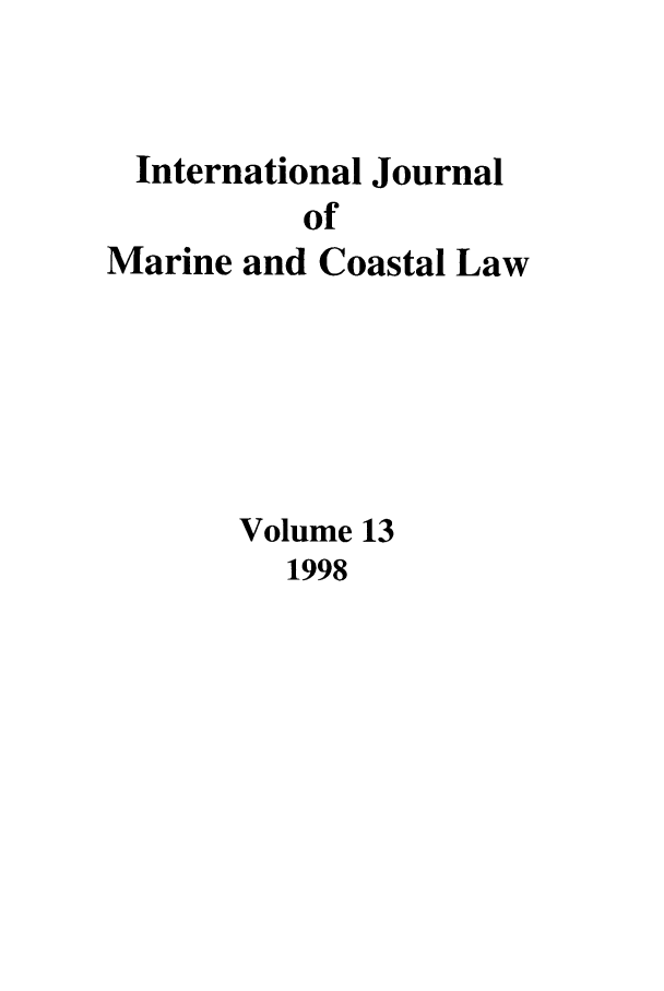 handle is hein.journals/ljmc13 and id is 1 raw text is: International Journal