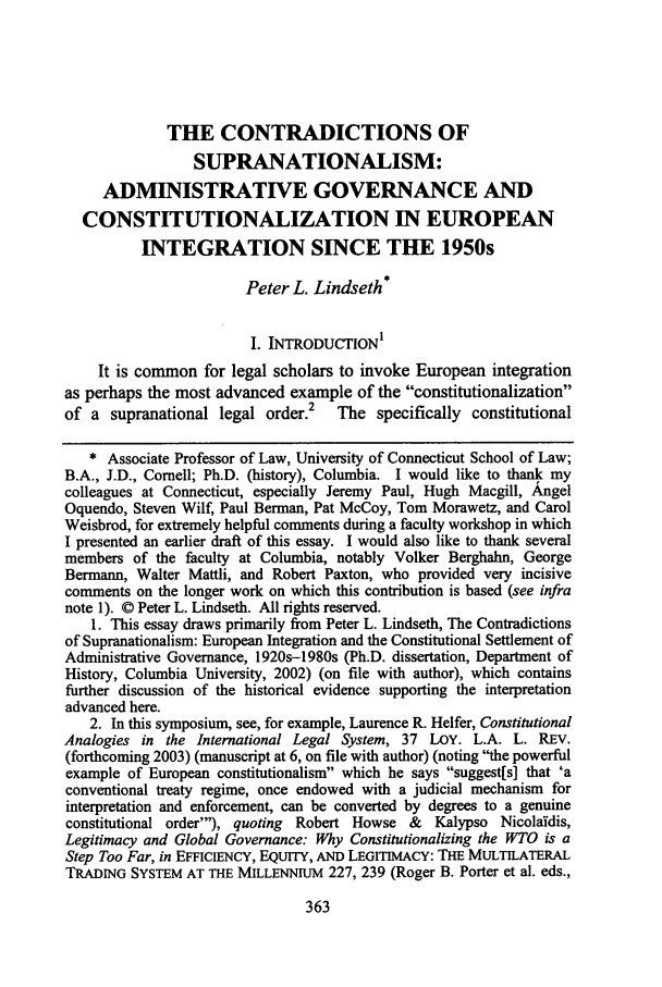 handle is hein.journals/lla37 and id is 403 raw text is: THE CONTRADICTIONS OF