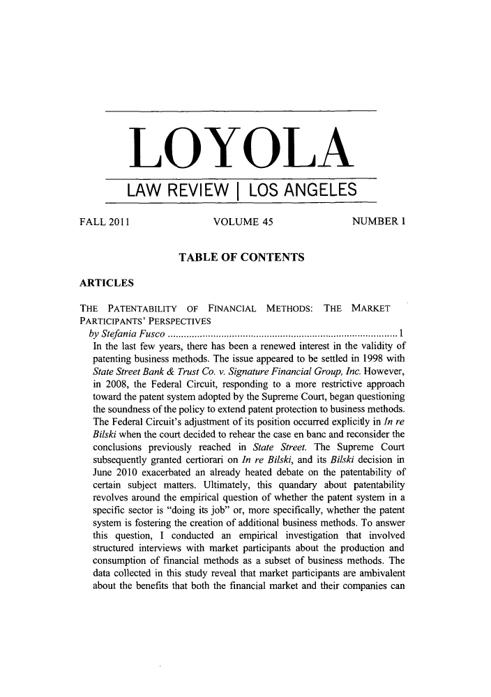 handle is hein.journals/lla45 and id is 1 raw text is: LOYOLA