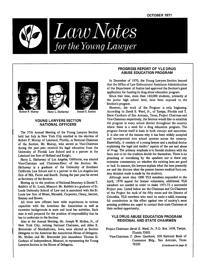 handle is hein.journals/lnyoung8 and id is 1 raw text is: OCTOBER 1971