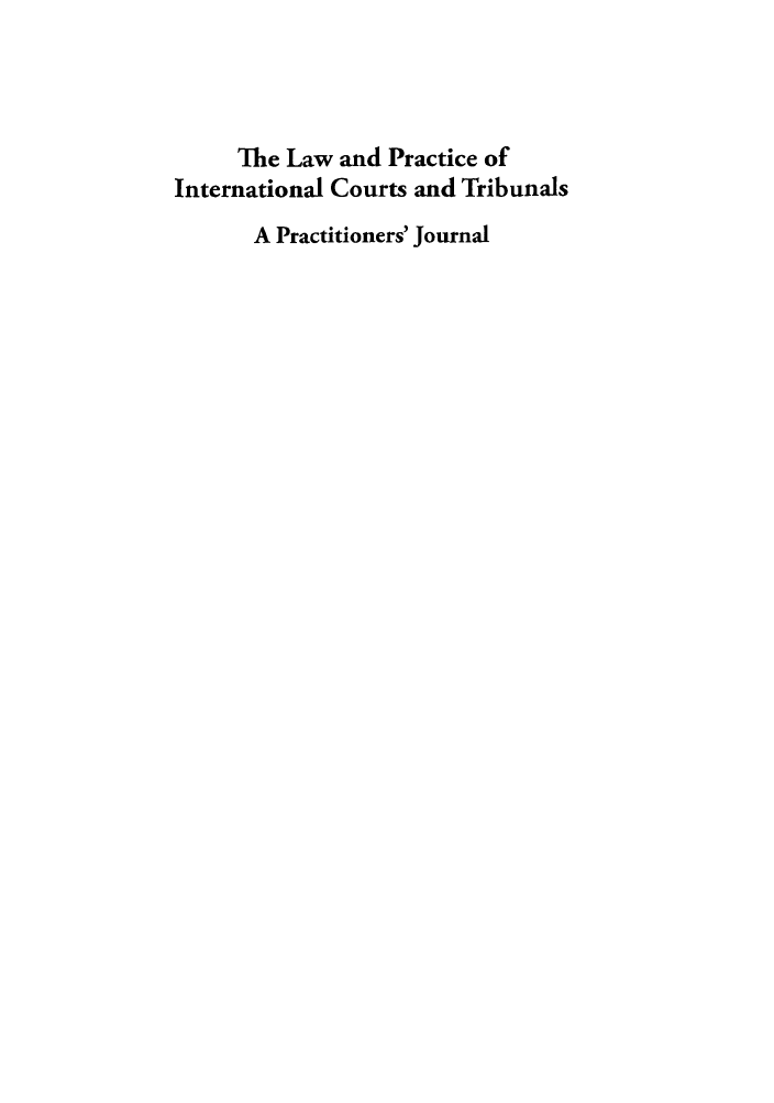 handle is hein.journals/lpict10 and id is 1 raw text is: The Law and Practice of