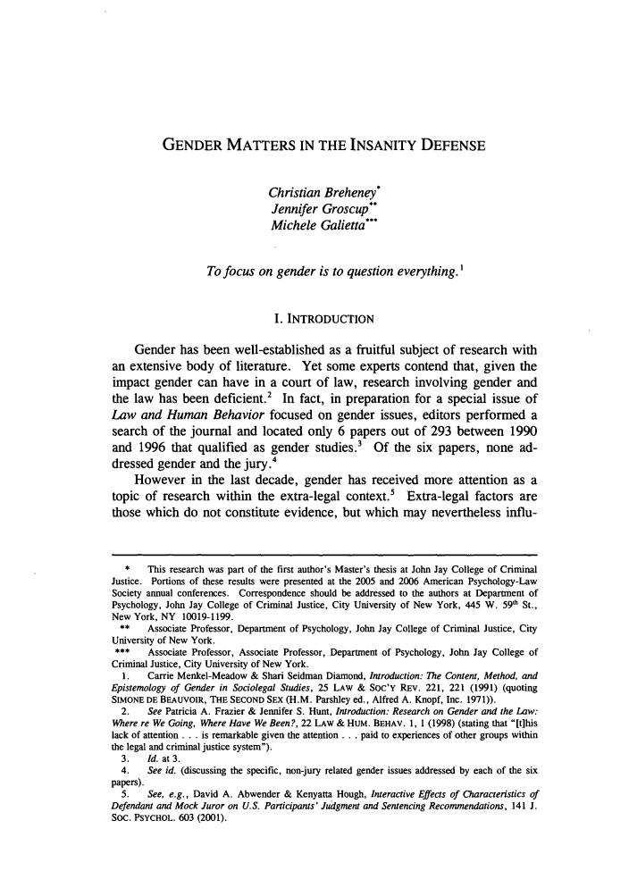 Criminal behavior master thesis