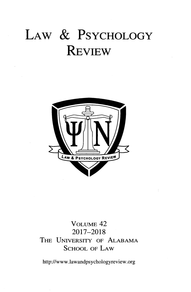 handle is hein.journals/lpsyr42 and id is 1 raw text is: 