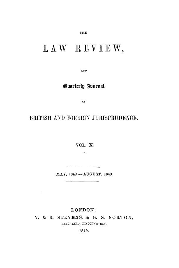handle is hein.journals/lrqj10 and id is 1 raw text is: THE