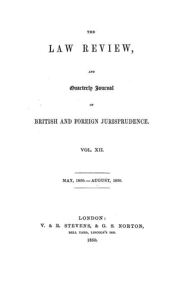 handle is hein.journals/lrqj12 and id is 1 raw text is: THE