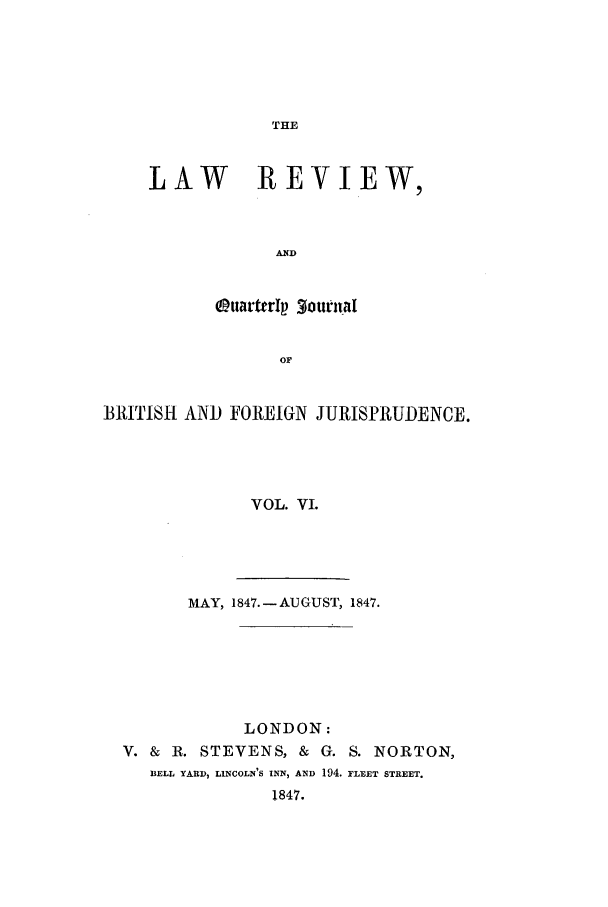 handle is hein.journals/lrqj6 and id is 1 raw text is: THE