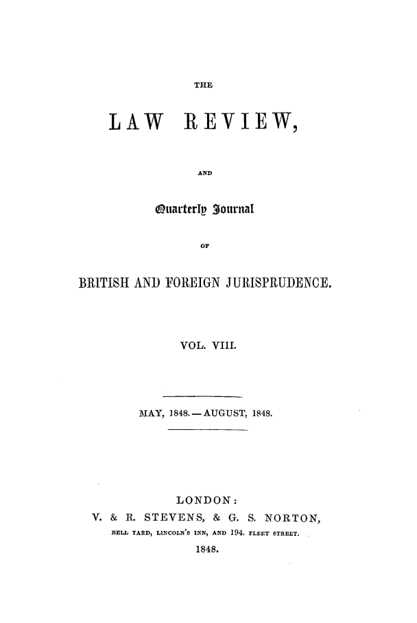 handle is hein.journals/lrqj8 and id is 1 raw text is: THE