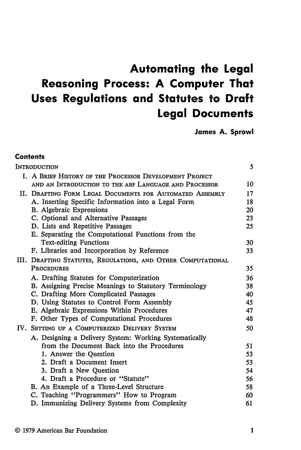 Automating The Legal Reasoning Process A Computer That Uses - How to draft a legal document