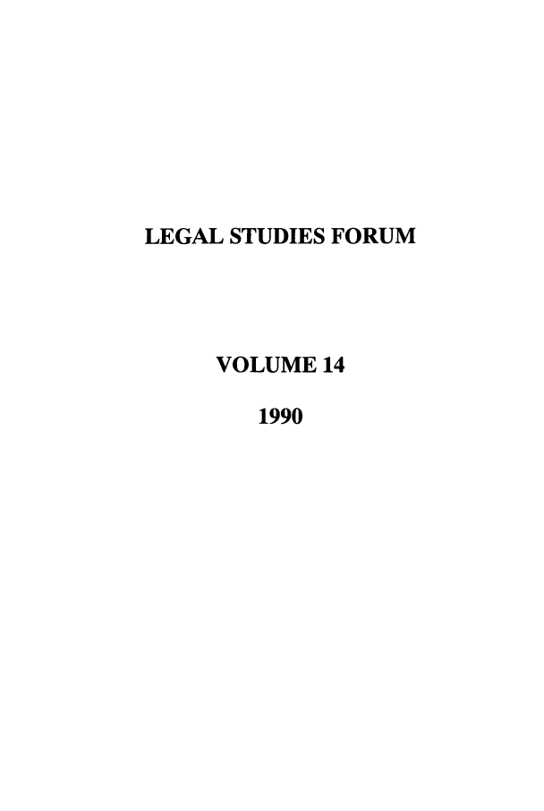 handle is hein.journals/lstf14 and id is 1 raw text is: LEGAL STUDIES FORUM