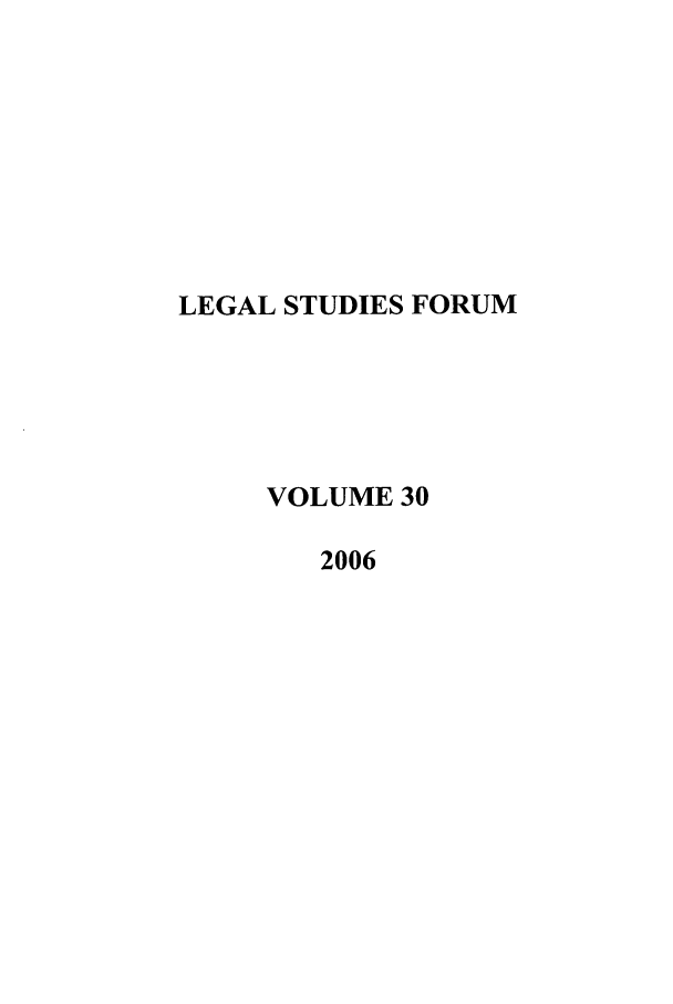 handle is hein.journals/lstf30 and id is 1 raw text is: LEGAL STUDIES FORUM