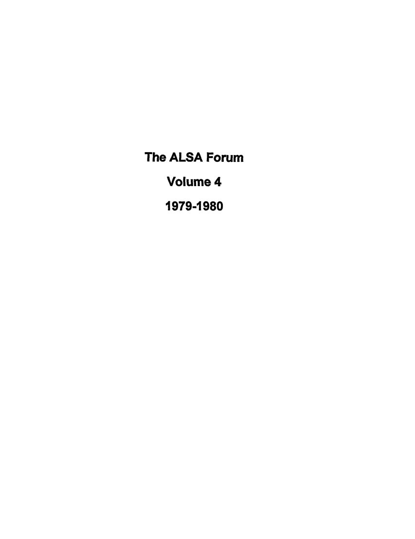 handle is hein.journals/lstf4 and id is 1 raw text is: The ALSA Forum