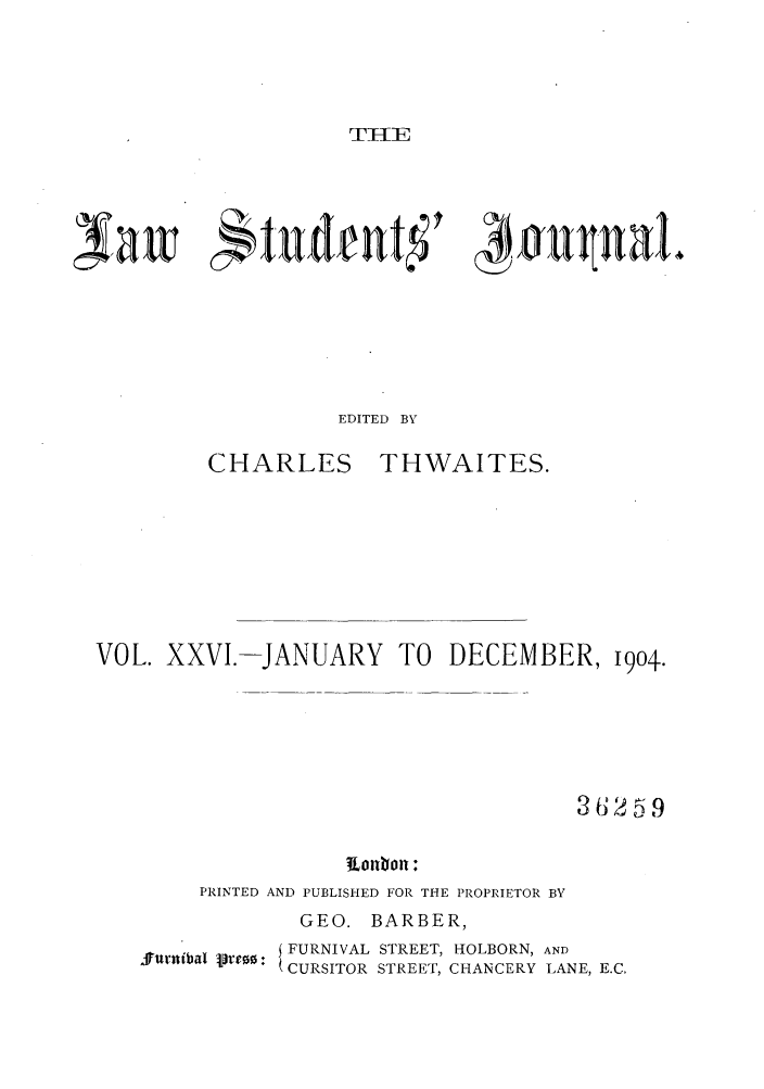handle is hein.journals/lstujou26 and id is 1 raw text is: I'TIE