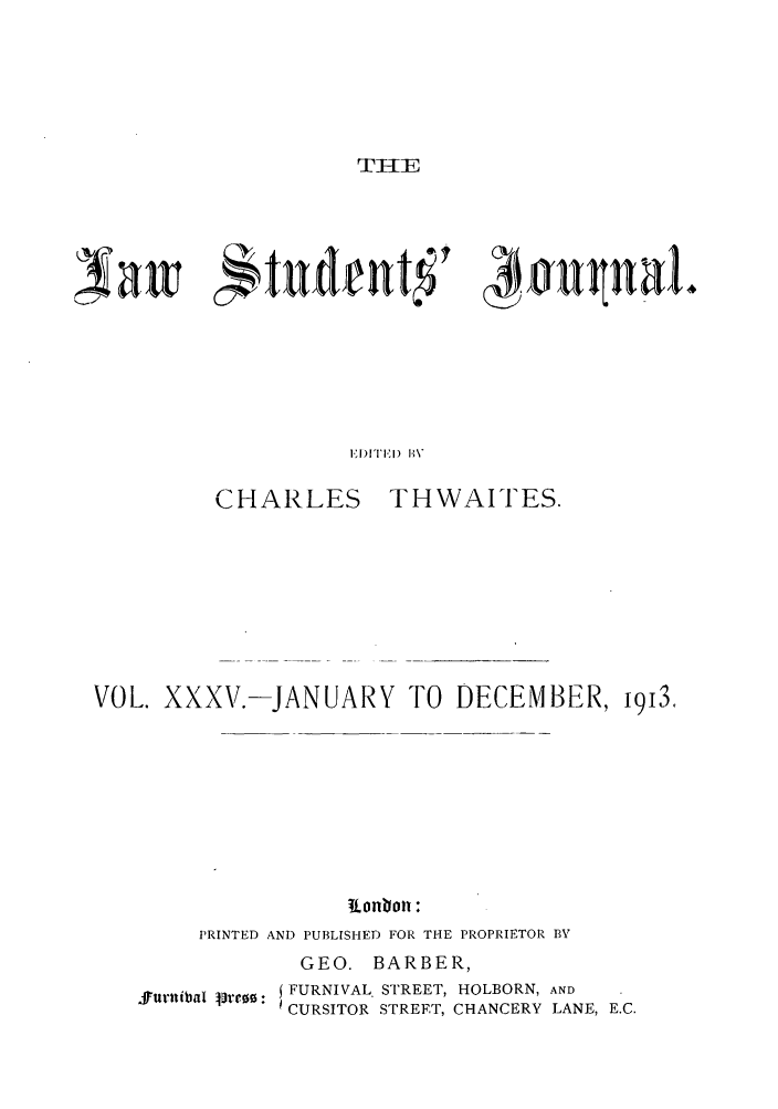 handle is hein.journals/lstujou35 and id is 1 raw text is: TIl-E
