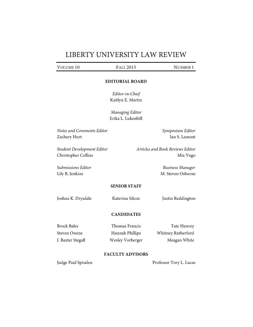 handle is hein.journals/lunlr10 and id is 1 raw text is: 