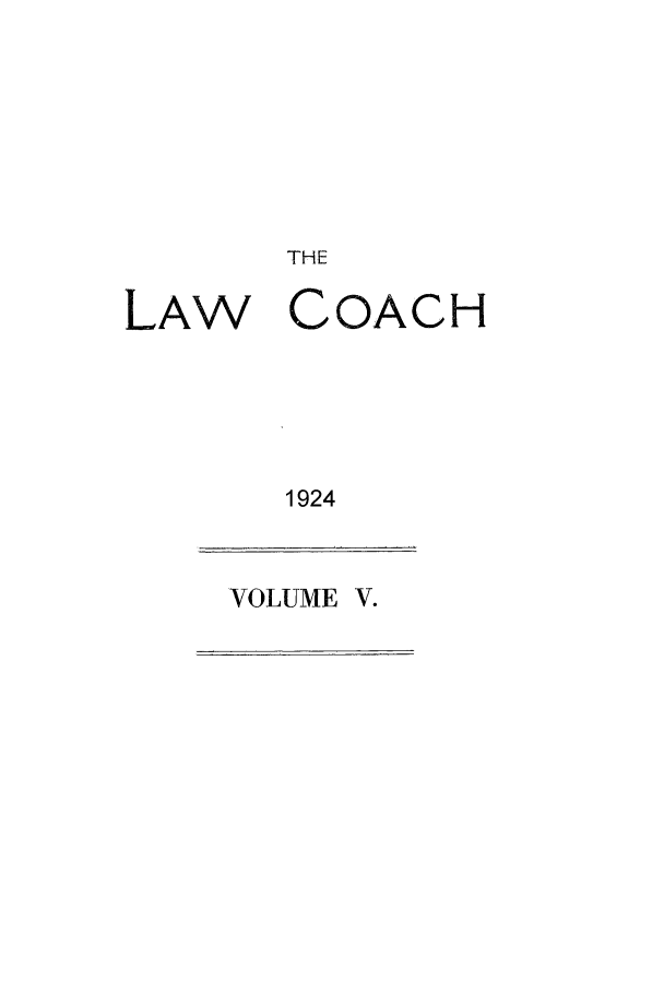 handle is hein.journals/lwcoarch5 and id is 1 raw text is: THE