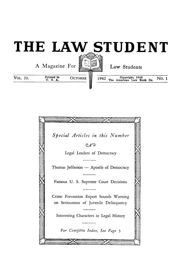 handle is hein.journals/lwstud20 and id is 1 raw text is: 