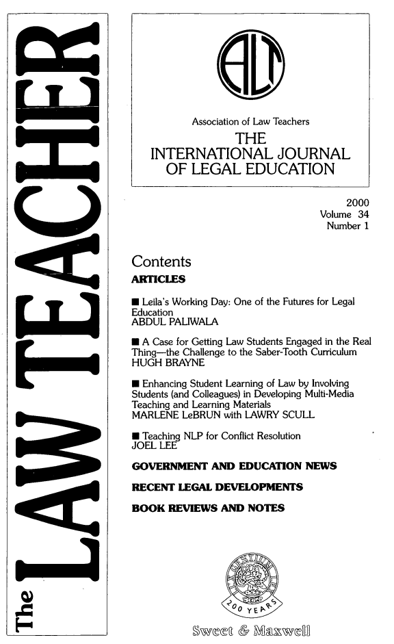 handle is hein.journals/lwtch34 and id is 1 raw text is: 