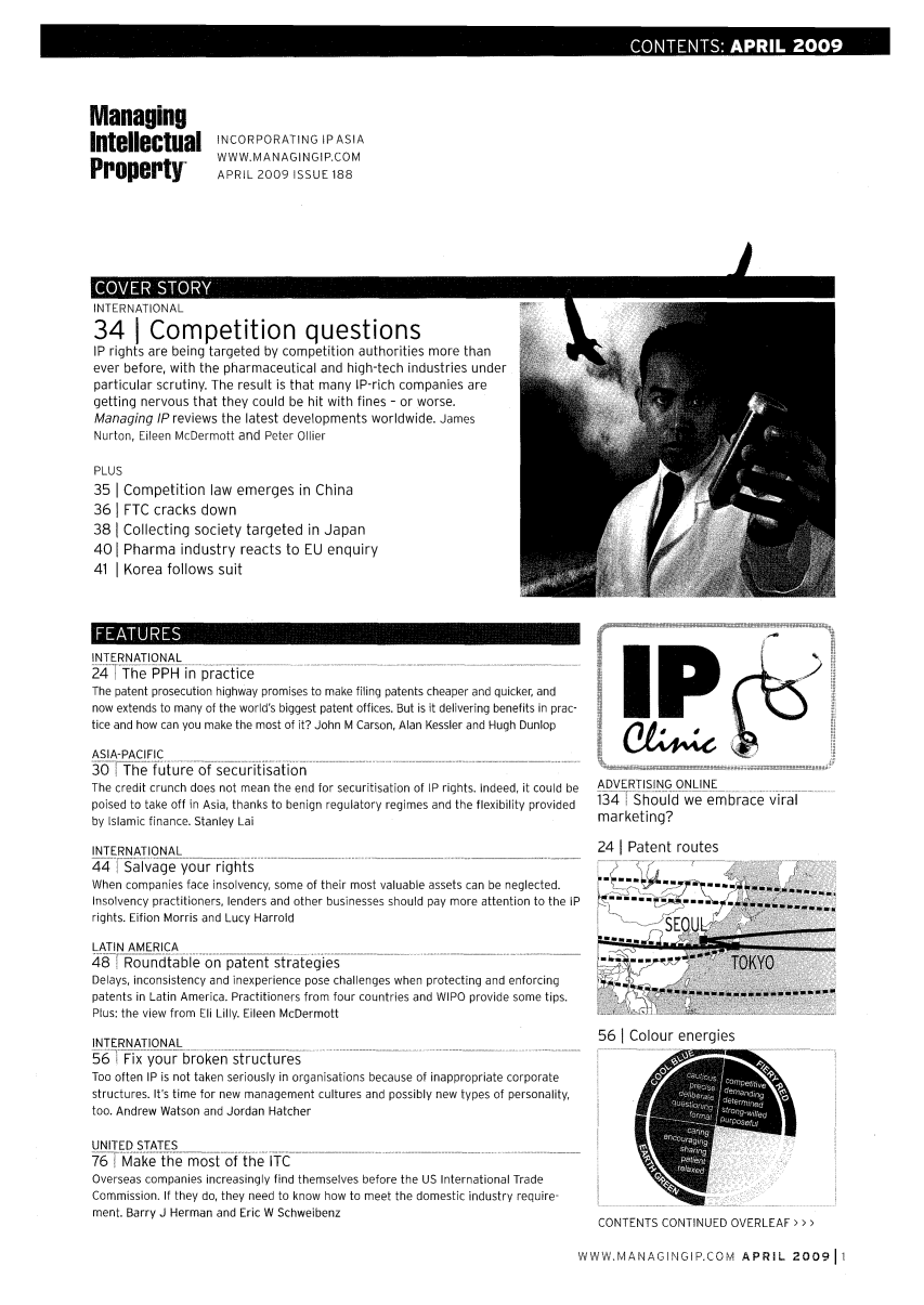 handle is hein.journals/manintpr188 and id is 1 raw text is: COTNS0PI 2009