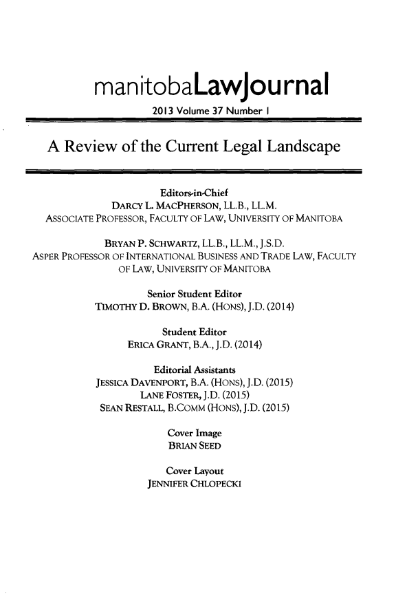 handle is hein.journals/manitob37 and id is 1 raw text is: 
