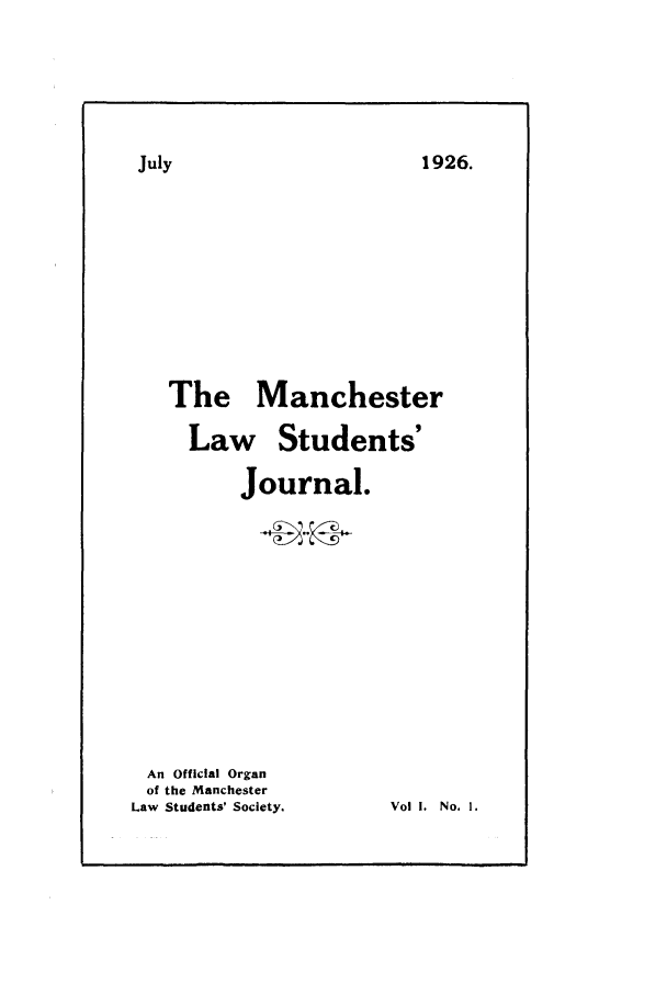handle is hein.journals/manlsj1 and id is 1 raw text is: 1926.