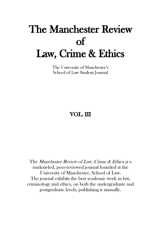 handle is hein.journals/manrvlce3 and id is 1 raw text is: 