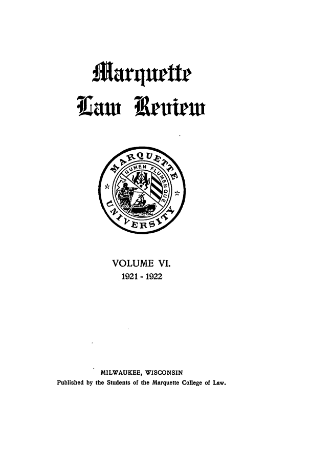 handle is hein.journals/marqlr6 and id is 1 raw text is: Marqueter